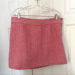 Vineyard Vines Pink White Herringbone Skirt 14
